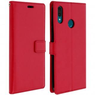 Flip Stand Cover Brieftasche & Standfunktion für Huawei Y9 2019 - Rot