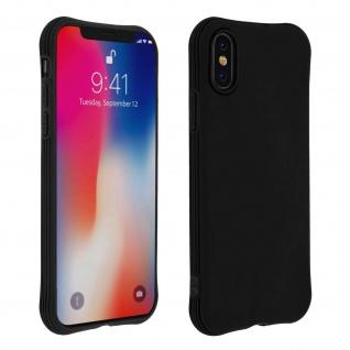 Flexible iPhone X / XS Silikon Bumper Hülle, stoßfest - Schwarz