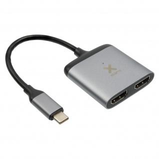 USB-C / 2x HDMI-Buchse und USB-C Power Delivery 60W Adapter, by Xtorm - Grau