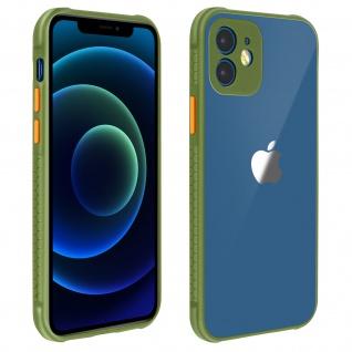 Apple iPhone 12Mini Schutzhülle aus Polycarbonat, Bumper aus Silikon - Khakigrün