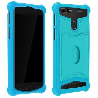 Schockabsorbierende Hülle für Smartphones zwischen 5.3'' und 5.5'' - Türkisblau