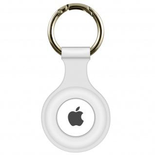 AirTag Soft Touch Schlüsselanhänger aus Silikon, mit Metallring ? Weiß