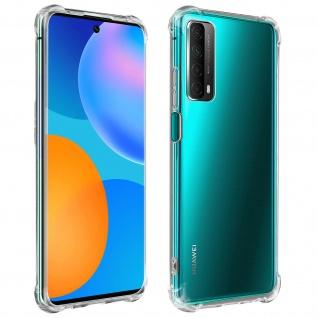 Flexible Huawei P Smart 2021 Silikon Bumper Hülle, stoßfest - Transparent
