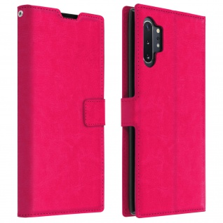 Cover Stand Case Brieftasche & Standfunktion Galaxy Note 10 Plus - Fuchsienrot