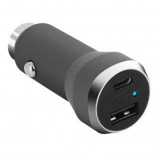 Force Power Zigaretten-Anzünder KFZ-Ladegerät 2x USB Ports + USB-C 5.4A - Grau