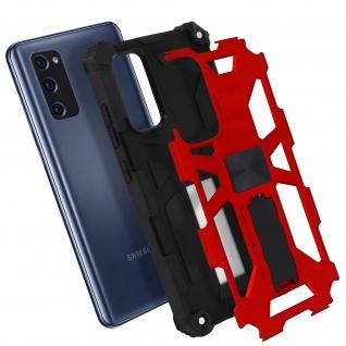 Samsung Galaxy S20 FE Handyhülle mit Ständer, Metallic Design - Rot