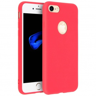 Forcell Apple iPhone 7 / 8 / SE 2020 Soft Touch Silikonhülle, soft case - Rot