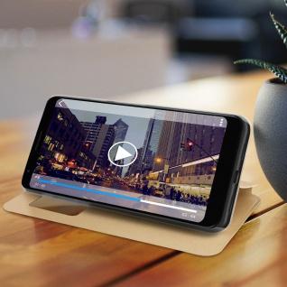 S-View Flip Cover mit Sichtfenster für Google Pixel 3A - Gold - Vorschau 5