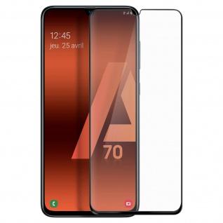Premium Panzerglas Schutzfolie für Samsung Galaxy A70 - Rand Schwarz