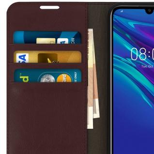 Business Leder Cover, Schutzhülle mit Geldbörse Huawei Y6 2019 - Braun - Vorschau 4