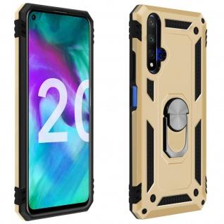 Hybrid Handyhülle mit Ring Halterung für Honor 20, Huawei Nova 5T - Gold
