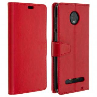 Flip Stand Cover Brieftasche & Standfunktion für Motorola Moto Z3 Play - Rot