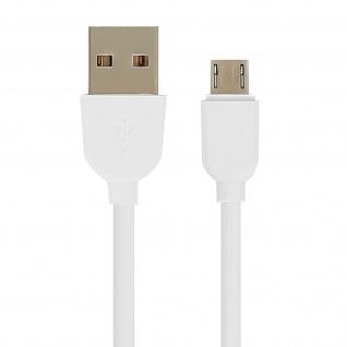 Micro-USB / USB-Ladekabel - Aufladen & Synchronisation 1 m - Weiß