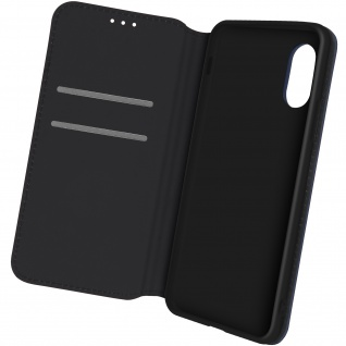 Kunstleder Cover Classic Edition, Klappetui für Samsung Xcover 5 â€? Dunkelblau
