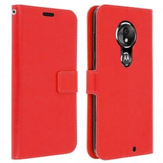 Flip Stand Cover Brieftasche & Standfunktion für Moto G7, Moto G7 Plus - Rot