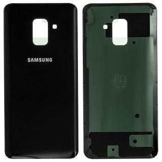 Ersatzteil Akkudeckel, neue Rückseite für Samsung Galaxy A8 2018 - Schwarz