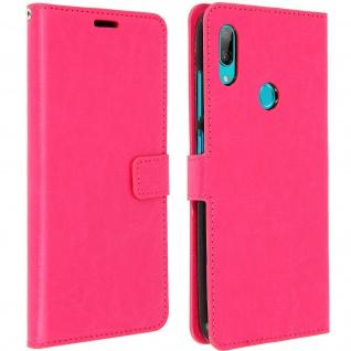 Flip Stand Cover Brieftasche & Standfunktion für Huawei Y7 2019 - Rosa