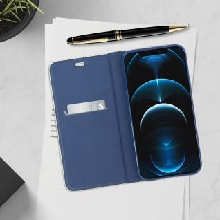 Apple iPhone 12 Pro Max Klappetui, Cover mit Carbon Design ? Dunkelblau - Vorschau 4