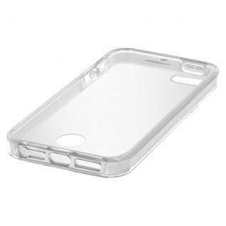 Zweiteilige Schutzhülle Silikon/Polycarbonat für iPhone SE, 5S, 5 - Transparent