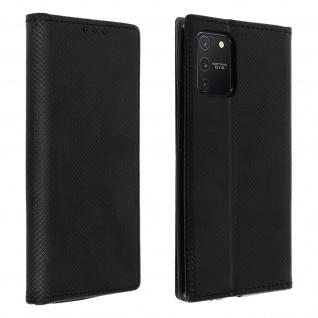 Wallet Cover, Klapphülle für Galaxy S10 Lite, Kartenfach und Ständer ? Schwarz