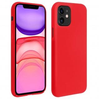 Halbsteife Silikon Handyhülle Apple iPhone 11, Soft Touch - Rot