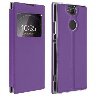 Sony Xperia XA2 Flip Cover Sichtfenster & Kartenfach Violett - Standfunktion