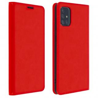 Business Leder Cover, Schutzhülle mit Geldbörse Samsung Galaxy A71 ? Rot
