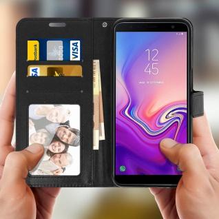 Flip Cover Stand Case Brieftasche & Standfunktion für Galaxy J6 Plus - Schwarz - Vorschau 4