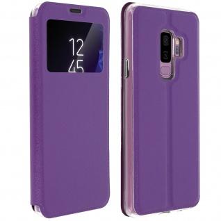 Samsung Galaxy S9 Plus Flip Cover Sichtfenster & Kartenfach Violett