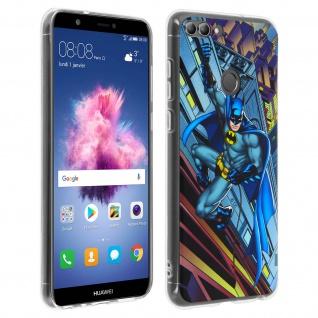 DC Comics Batman Gelhülle, Silikon Hülle für Huawei P Smart â€? Blau