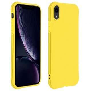 Flexible iPhone XR Silikon Bumper Hülle, stoßfest - Gelb
