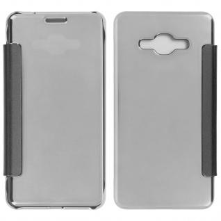 Silberfarbene Clear View Schutzhülle für Samsung Galaxy J3
