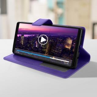 Flip Stand Cover Brieftasche & Standfunktion für Sony Xperia 1 - Violett - Vorschau 4