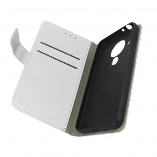 Nokia 5.4 / 3.4 Kunstlederhülle mit Kartenfächern & Standfunktion ? Weiß