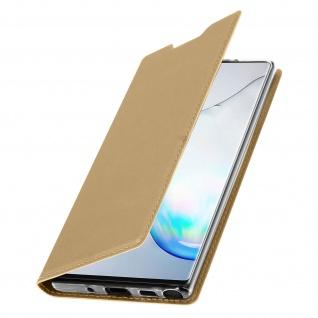 Flip Cover, Klappetui mit Kartenfach & Standfunktion Samsung Galaxy Note 10 Gold - Vorschau 2
