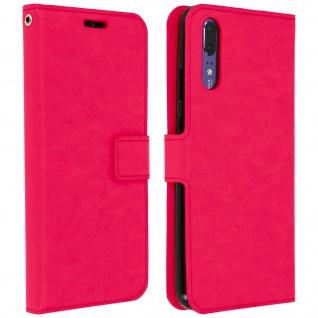 Flip Cover Stand Case Brieftasche & Standfunktion für Huawei P20 - Rosa
