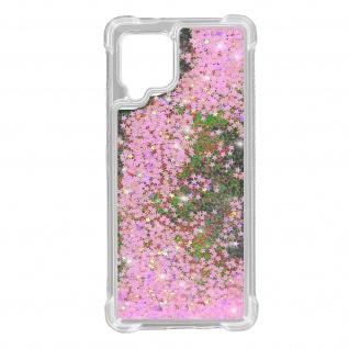 Samsung Galaxy A42 5G Flexible Bumper Handyhülle, Glitter Schutzhülle - Rosa