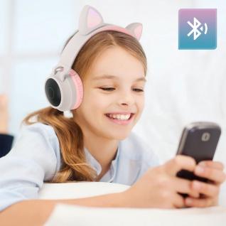 Katzenohren kabellose Bluetooth Kopfhörer, Kitty Headset ? Beigegrau - Vorschau 3