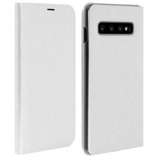 Flip Book Cover, Klappetui aus Kunstleder für Samsung Galaxy S10 - Weiß