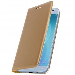 Flip Book Cover Schutzhülle für Samsung Galaxy J5 2017 - Gold