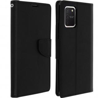 Fancy Style Cover Samsung Galaxy S10 Lite, Fach und Standfunktion - Schwarz