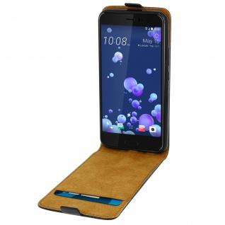 HTC U11 Flip-Schutzhülle mit unverbrüchlicher Hartschale - Schwarz - Vorschau 4