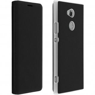 Flip Book Cover, Schutzhülle mit Geldbörse für Sony Xperia XA2 - Schwarz