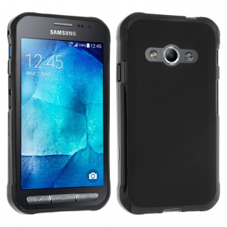 Flexible Schutzhülle aus Silikon für Samsung Galaxy Xcover 3 - Schwarz - Vorschau 1