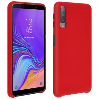 Samsung Galaxy A7 2018 Soft Touch kratzfeste Silikonhülle, soft case - Rot