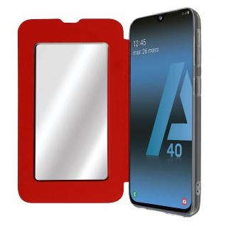 Spiegel Hülle, dünne Klapphülle für Samsung Galaxy A40 - Rot