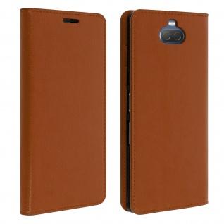 Business Leder Cover, Schutzhülle mit Geldbörse für Sony Xperia 10 - Kupfer