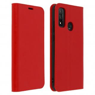 Business Leder Cover, Schutzhülle mit Geldbörse Huawei P Smart 2020 ? Rot