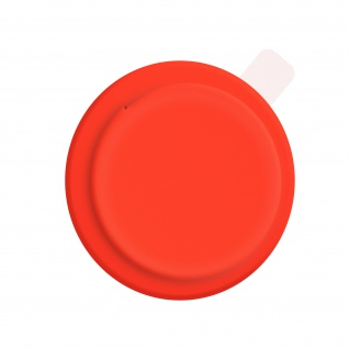 Apple AirTag weiche Silikonhülle, klebende Rückseite ? Rot