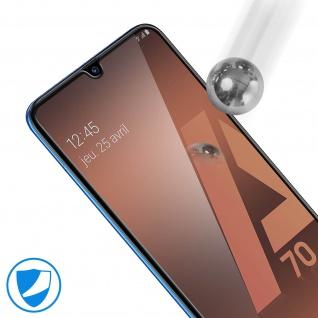 9H Härtegrad kratzfeste Glas-Displayschutzfolie für Galaxy A70 - Schwarz - Vorschau 5